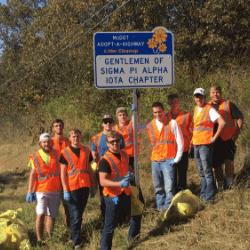 Sigma Pi Alpha Iota Chapter road volunteer