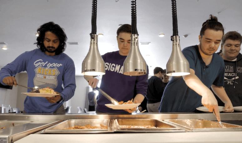 Sigma Pi Alpha Iota Chapter sigma pi brothers at buffet