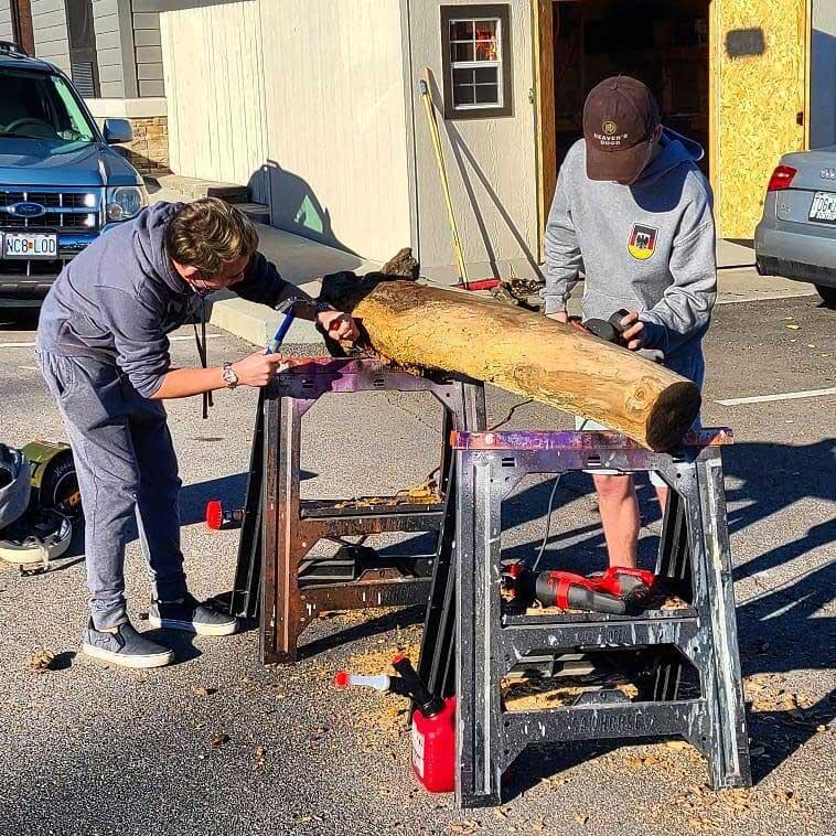 Sigma Pi Alpha Iota Chapter wood working